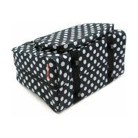 Geanta pentru masina de cusut design negru cu buline albe